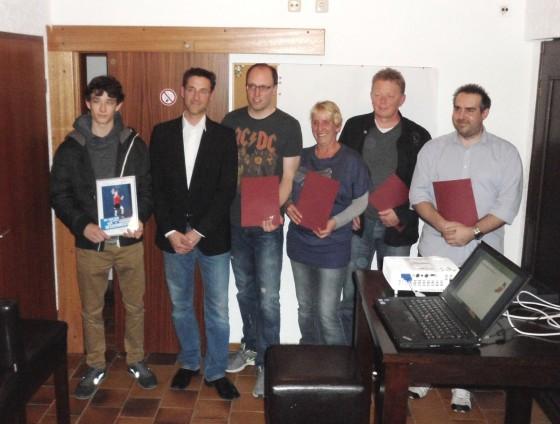 Von links: Fabio, Tobi, Daniel, Daggi, Klaus und Patrick