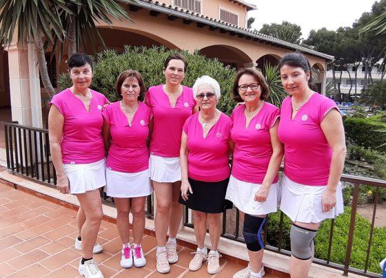 Unsere Damen40 Mannschaft 2019: Conny Pommerening, Petra Zon, Sabine Diehl, Inge Pompe, Diana Jakob und Conny Leibrich